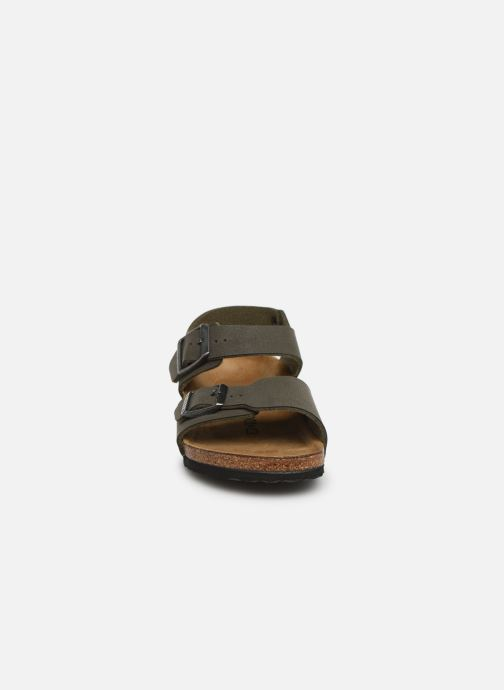 Sandals Birkenstock New York Birko Flor Brown model view