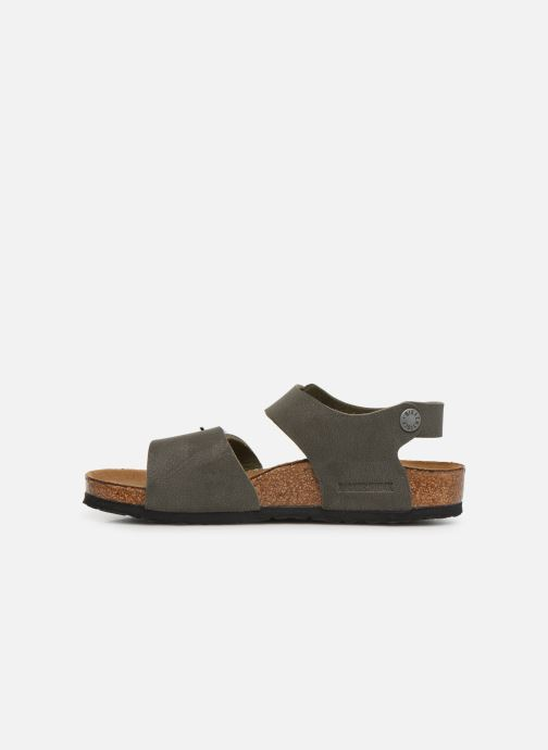 Sandals Birkenstock New York Birko Flor Brown front view