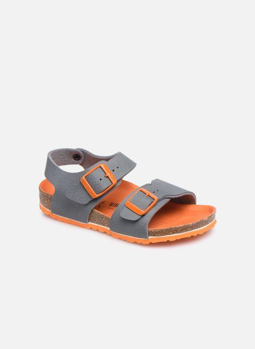 Sandales et nu-pieds Birkenstock New York Birko Flor Gris vue détail/paire