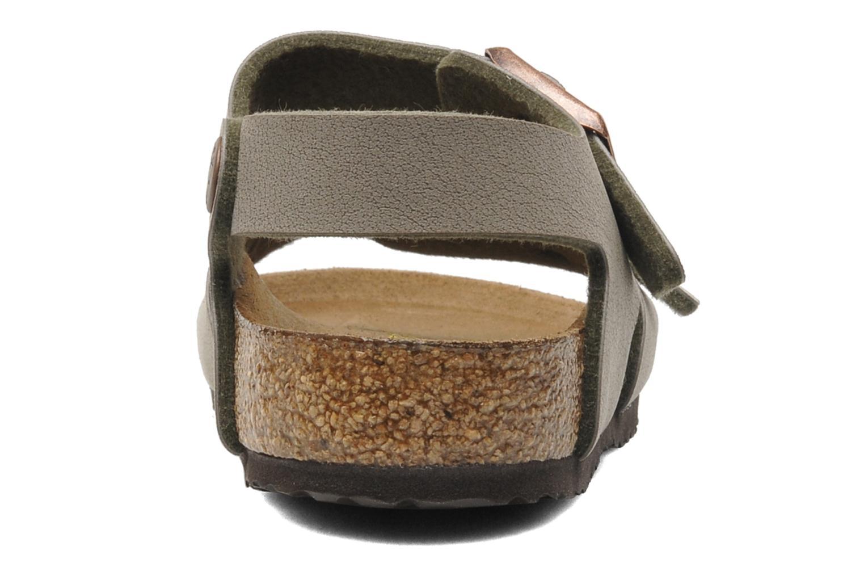 Sandales et nu-pieds Birkenstock New York Birko Flor Gris vue droite