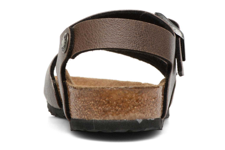 Sandales et nu-pieds Birkenstock New York Birko Flor Marron vue droite