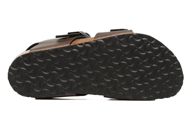 Sandales et nu-pieds Birkenstock New York Birko Flor Marron vue haut