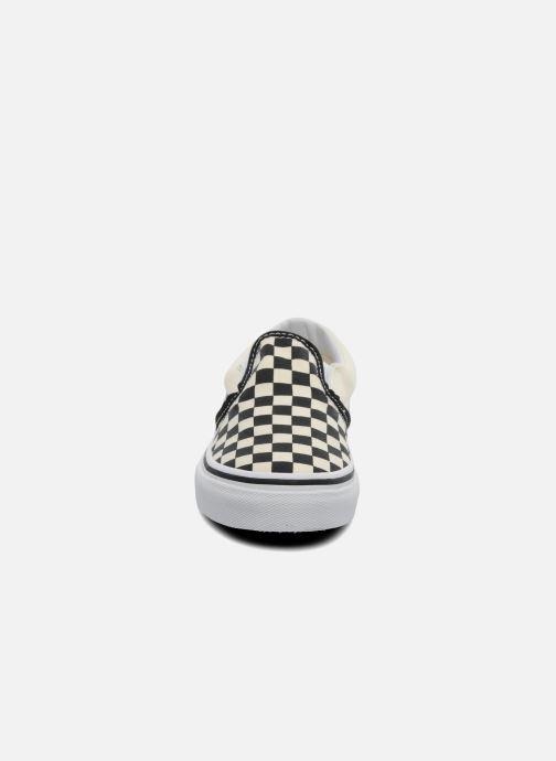 Baskets Vans Classic Slip-On E Blanc vue portées chaussures