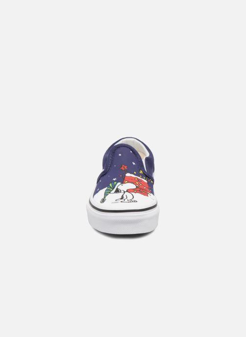 Sneakers Vans Classic Slip-On E Azzurro modello indossato