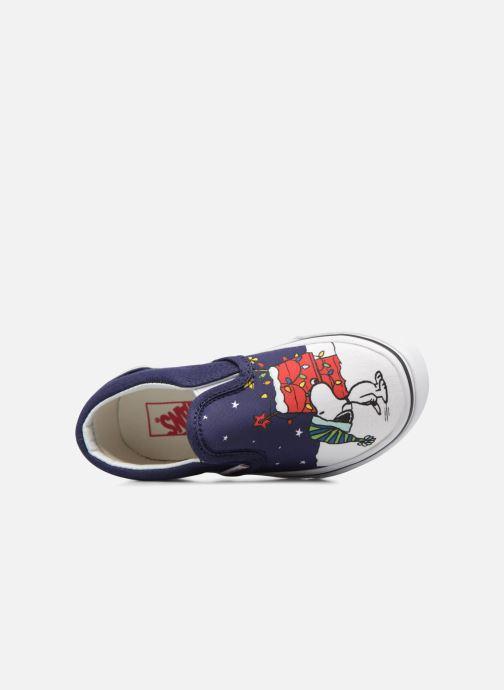 Sneakers Vans Classic Slip-On E Azzurro immagine sinistra
