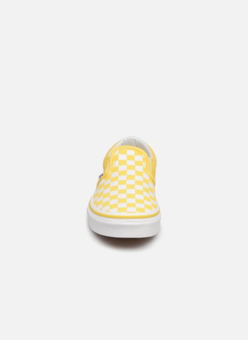 Sneaker Vans Classic Slip-On E gelb schuhe getragen
