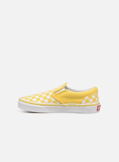 Sneaker Vans Classic Slip-On E gelb ansicht von vorne