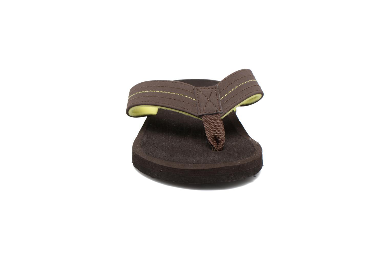 Flip flops Isotoner Tong Yoga Homme Brown model view