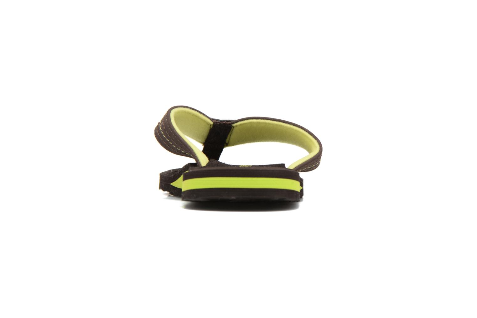 Flip flops Isotoner Tong Yoga Homme Brown view from the right