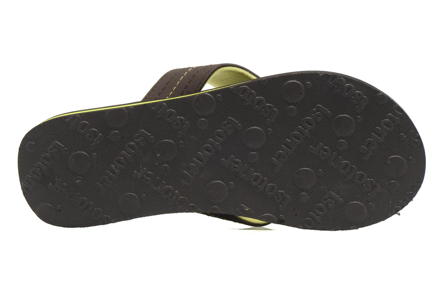 Flip flops Isotoner Tong Yoga Homme Brown view from above