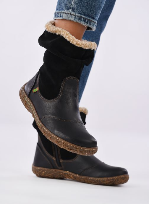 Stiefeletten & Boots El Naturalista Nido Ella N758 schwarz ansicht von unten / tasche getragen