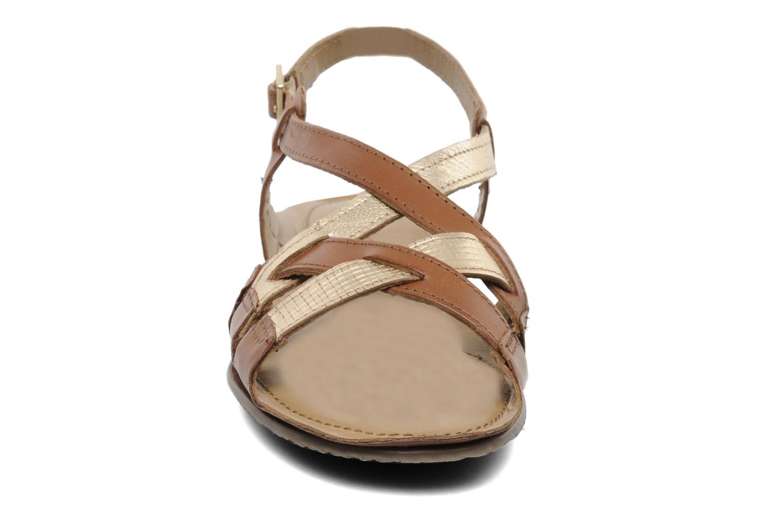 Sandales et nu-pieds Jonak Jacinte Marron vue portées chaussures