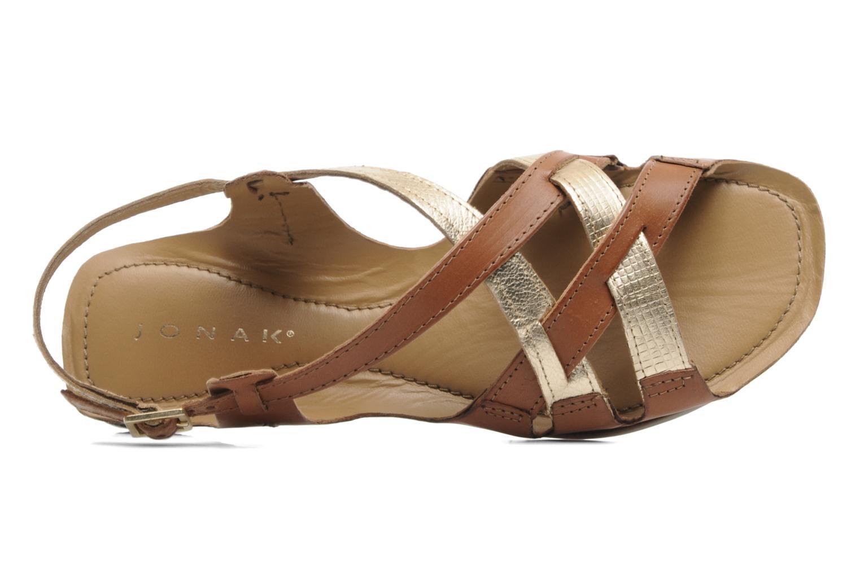 Sandales et nu-pieds Jonak Jacinte Marron vue gauche