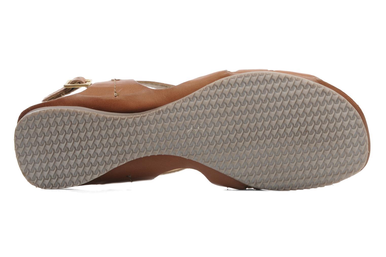 Sandales et nu-pieds Jonak Jacinte Marron vue haut
