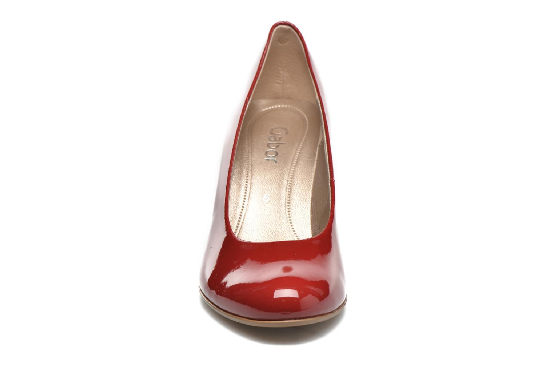 Escarpins Gabor Livia Rouge vue portées chaussures