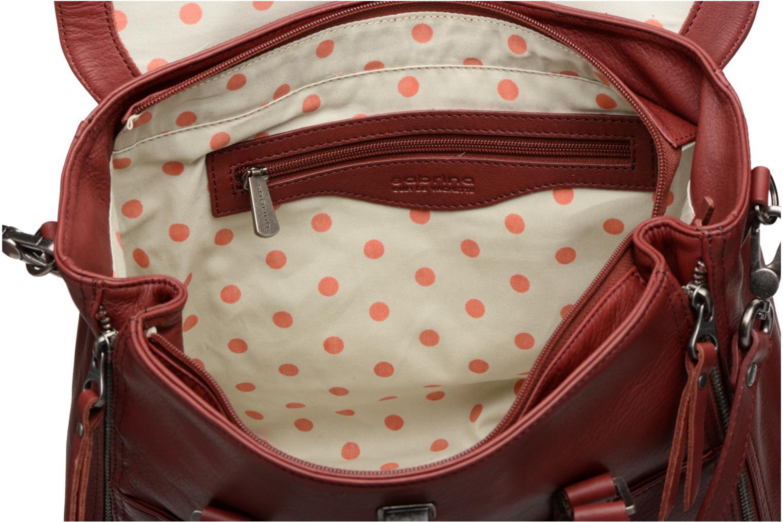 Handtassen Sabrina Charlotte Bordeaux achterkant