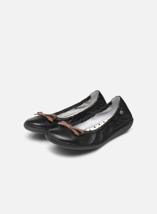 Ballerinas TBS Macash schwarz ansicht von unten / tasche getragen