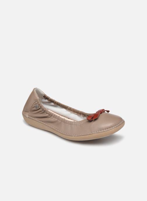 Ballerinaer TBS Macash Beige detaljeret billede af skoene