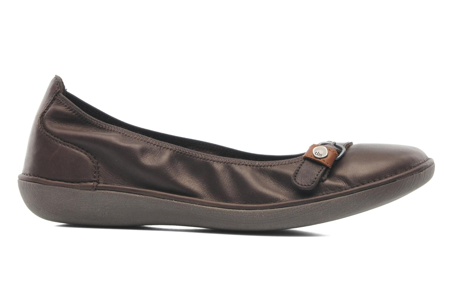 Ballet pumps TBS Maline Brown back view