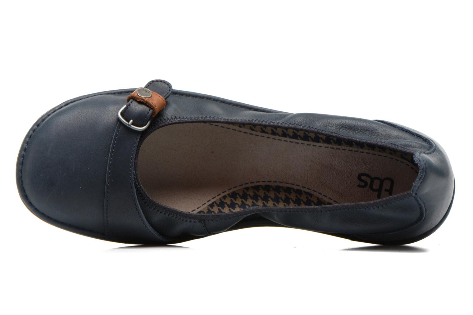 Ballet pumps TBS Maline Blue view from the left