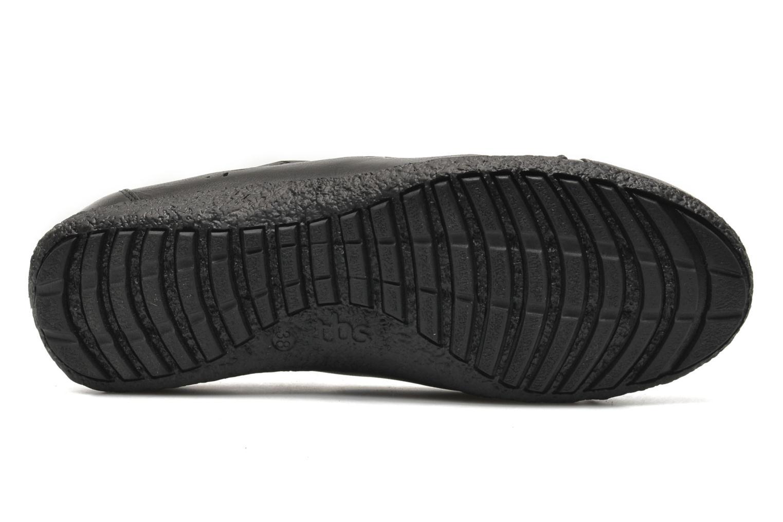 Chaussures à lacets TBS Kahina Noir vue haut