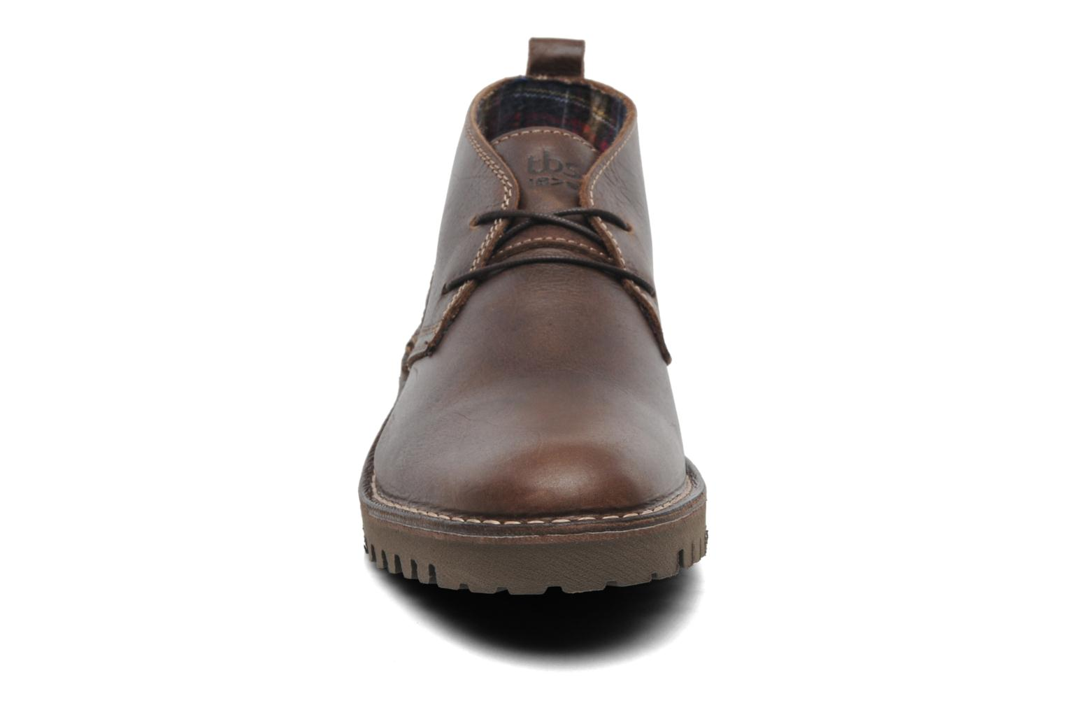 Lace-up shoes TBS Maxime Brown model view