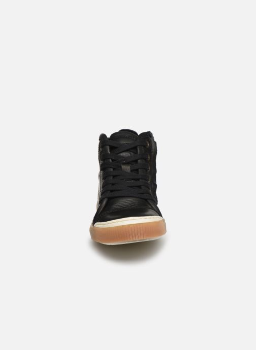 Baskets Bisgaard Geo Noir vue portées chaussures