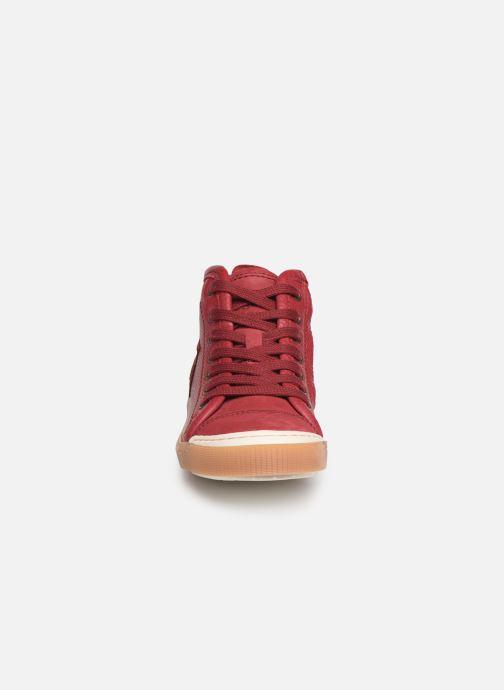 Baskets Bisgaard Geo Bordeaux vue portées chaussures