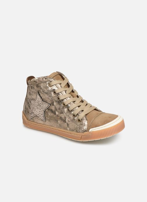Baskets Bisgaard Geo Or et bronze vue détail/paire