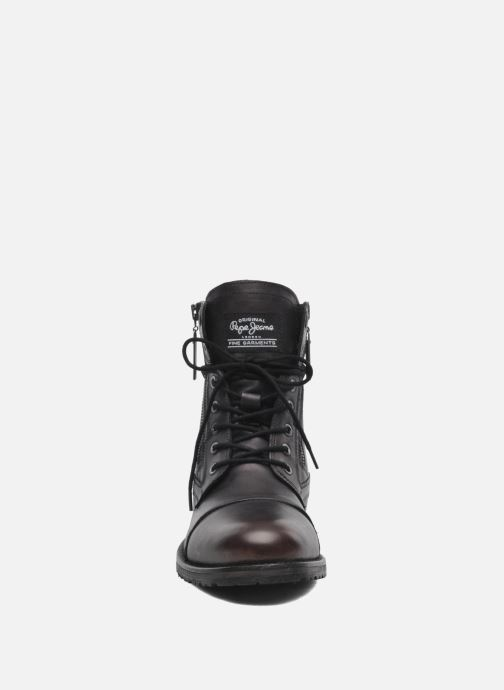 Ankle boots Pepe jeans Melting Zipper Heritage Black model view