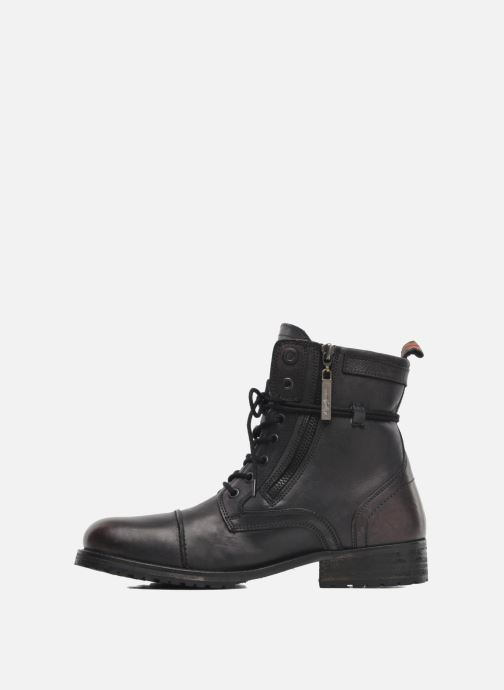 Ankle boots Pepe jeans Melting Zipper Heritage Black front view