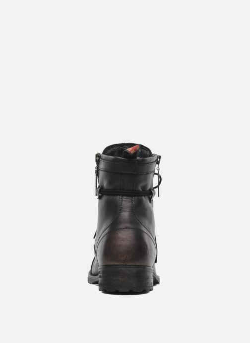 Ankle boots Pepe jeans Melting Zipper Heritage Black view from the right