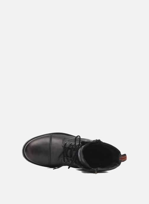 Ankle boots Pepe jeans Melting Zipper Heritage Black view from the left