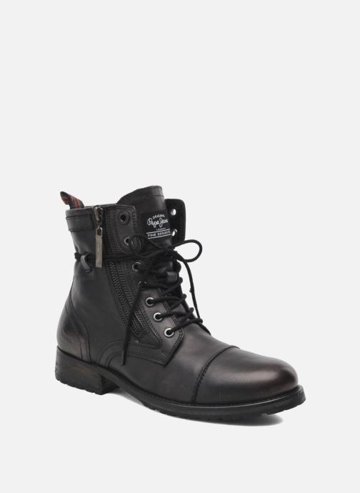 Ankle boots Pepe jeans Melting Zipper Heritage Black detailed view/ Pair view