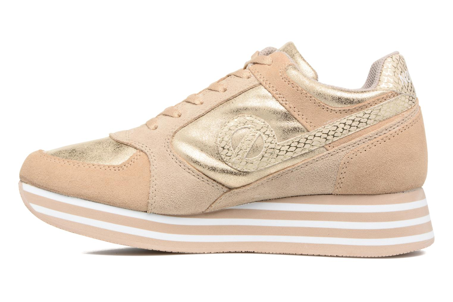 Trainers No Name Parko Jogger Bronze and Gold front view