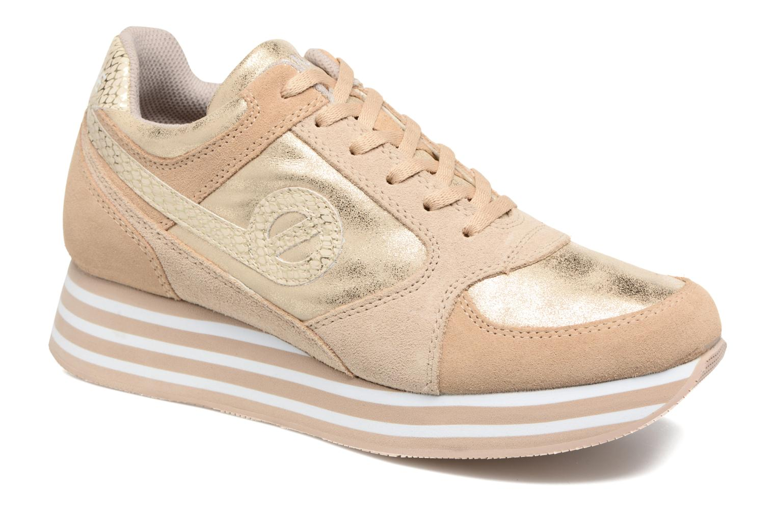 Trainers No Name Parko Jogger Bronze and Gold detailed view/ Pair view