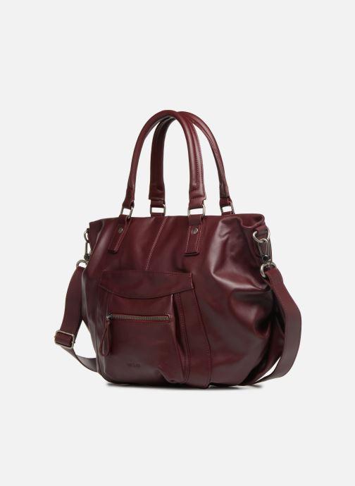 Handtaschen Nat & Nin Noela weinrot schuhe getragen