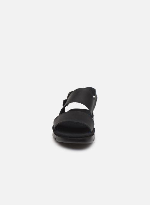 Sandales et nu-pieds Camper Oruga Noir vue portées chaussures