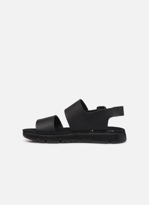 Sandales et nu-pieds Camper Oruga Noir vue face