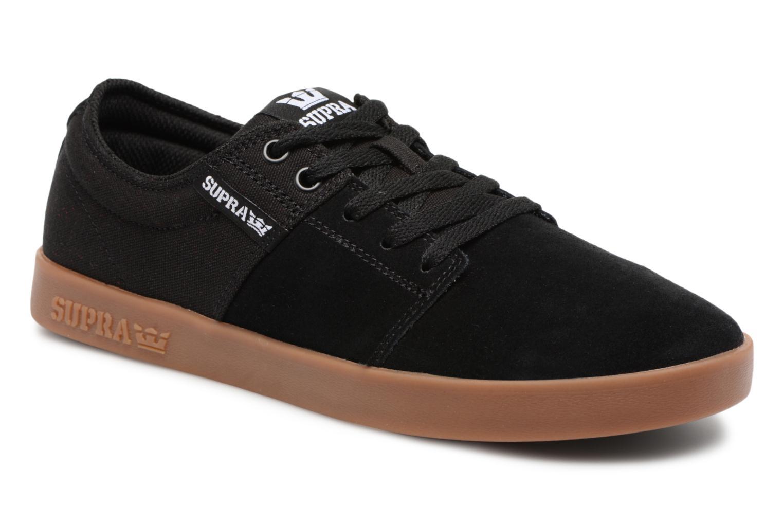 Sport shoes Supra Stacks II Black detailed view/ Pair view
