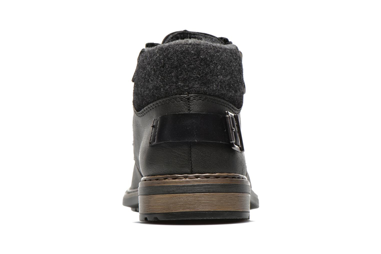Zapatos con cordones Rieker Gaspa F1230 Negro vista lateral derecha