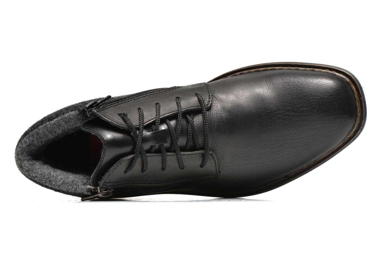 Zapatos con cordones Rieker Gaspa F1230 Negro vista lateral izquierda