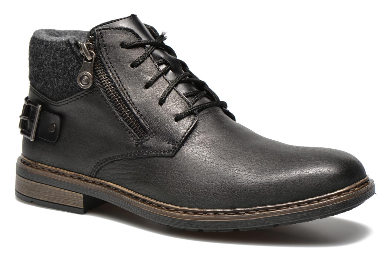 Zapatos con cordones Rieker Gaspa F1230 Negro vista de detalle / par