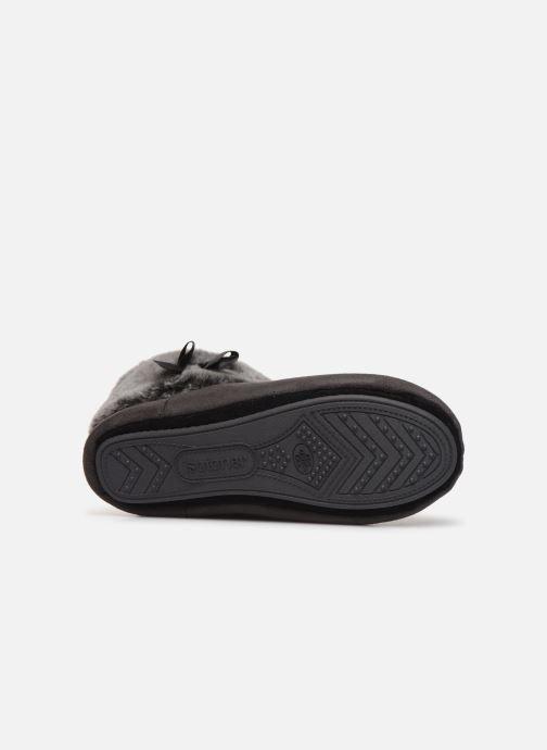 Pantoffels Isotoner Botillon Suédine et Fourrure Grijs boven