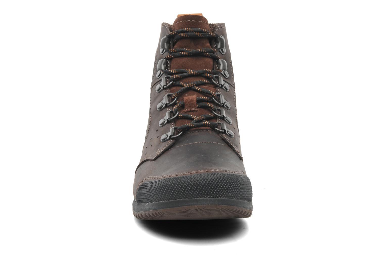 Bottines et boots Sorel Ankeny Mid Hiker Marron vue portées chaussures