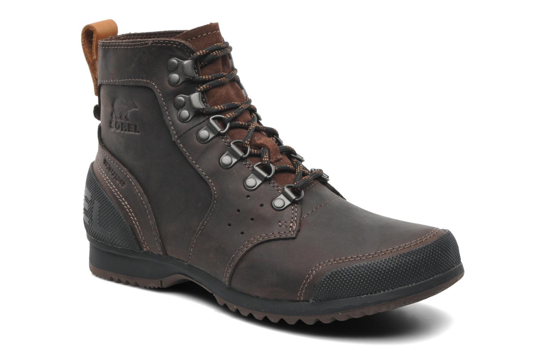 Bottines et boots Sorel Ankeny Mid Hiker Marron vue détail/paire