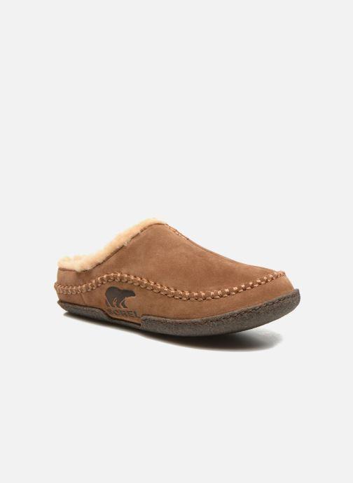 Hjemmesko Sorel Lanner Ridge Brun detaljeret billede af skoene