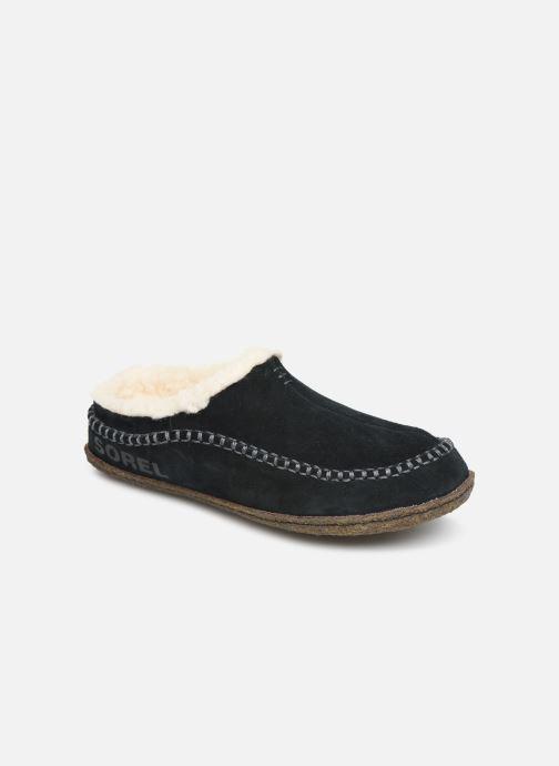 Hjemmesko Sorel Lanner Ridge Sort detaljeret billede af skoene