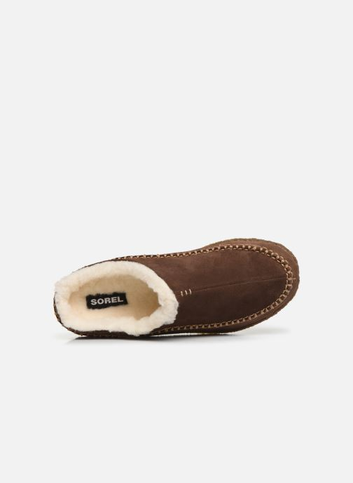 Pantoffels Sorel Falcon Ridge Bruin links