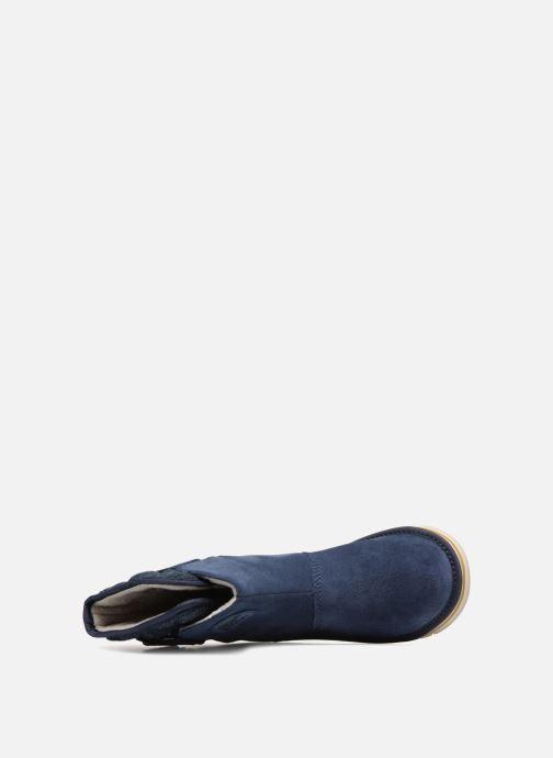 Botines  Sorel Newbie Azul vista lateral izquierda